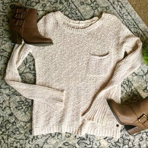🍂ROXY Cream Colored Knit Sweater
